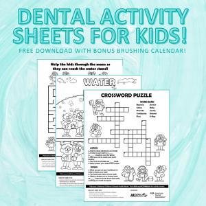 Dental Activity Sheets for Children, Trobough Dental, Troy Trobough DDS